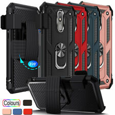 New listing For Lg K40/Xpression Plus 2/Solo Lte, Ring Stand Phone Case W Belt Clip Holder