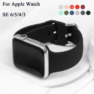 Braided Silicone Watch Strap Band For Apple Watch For Iwatch Series 6 SE 5 4 3