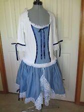 Square Dance Dress XL Blue White Costume Handmade