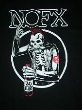 FREE SAME DAY SHIPPING BRAND NEW PUNK NOFX 30 YEARS SKELETON PUNK SHIRT MEDIUM
