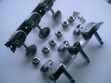 Rare old Vintage COMMODORE SEMI-ACOUSTIC GUITAR PARTS ( MACHINEHEADS & FERRULES)
