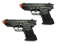 2 x Spring Airsoft Gun Pistol Police Toy Air Sport Hand Gun 6mm BB BBs (Black)