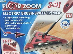 Floor Zoom 3 1n 1 Electric Brush-Sweeper Mob free microfiber mob rechargeable