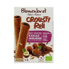 (3,19 EUR/100 g) Blumenbrot Crousty Roll Keks Kakao Haselnuss bio 125 g