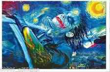 """Starry Night Joker 24x36inch""Handcraft Portrait oil painting on canvas NO FRAME"