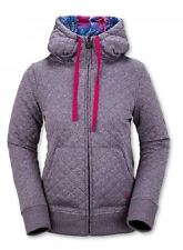 2016 NWT WOMENS VOLCOM TANSY QUILTED FLEECE HOODIE $100 S purple full zip cozy