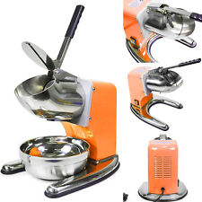Orange Commercial Dual Blade 143lb/h Ice Shaver Crusher Icee Maker Machine
