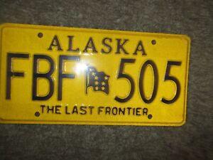 """ALASKA: USA  number plate  # FBF 505  UNUSED  """" THE LAST FRONTIER"""""""