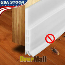 Door Sweep Weather Stripping Self Adhesive Under Draft Stopper Sound Proof WHITE