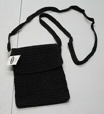 Old Navy Knit Black Small Cross Body Messenger Bag Purse NWTs