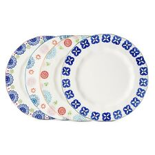 Ceramic Dinner Plate Set 4pc Multicolored Floral