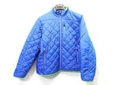 Lands End L Blue Green Coat Quilted Primaloft Jacket Full Zip Womens 14 16 Lg