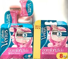 1,4 or 8  Gillette Venus Spa Breeze Comfortglide Women's 3 Blade Razor Cartridge
