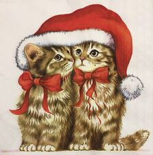 2 single paper napkins for decoupage Craft or collection Collection Kittens Cats