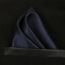 (T13) Navy Blue Men Silk Formal Pocket Square Hanky Wedding Party Handkerchief