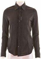 DIESEL Womens Shirt Size 12 Medium Black Cotton  NQ06