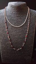 HANDMADE! Garnet Gemstone Necklace 30039