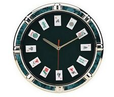 "11"" Game Theme Mah Jong Wall Clock With Mah Jong Tile Markers New"