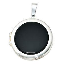Medaillon rund 925 Sterling Silber 1 Onyx Medallion Medaillion Medaillonanhänger