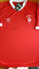 RONNIE GLAVIN Signed In Person BARNSLEY FC Shirt Proof COA