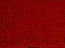 CLEARANCE SALE SQUARE RED CONFETTI DOT SEQUIN FABRIC $4.50/YARD