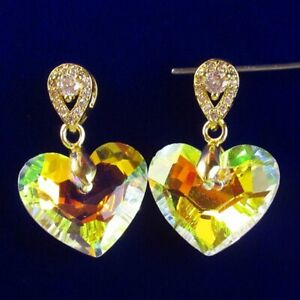 6pcs Faceted White Titanium Crystal Gold Rhinestone Shell Pendant