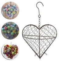 Hanging Planters Heart Shape Flower Pots Iron Wall Succulent Plants Basket Decor