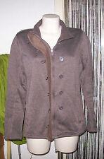 Damen Strickjacke,TCM,Gr.44,fällt kleiner aus 40,Braun,Zipper+Knöpfe,hoherKragen