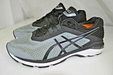 ASICS GT-2000 6 Stone Grey / Black Running Shoes T807N Men 12 EEEE ( 4E )