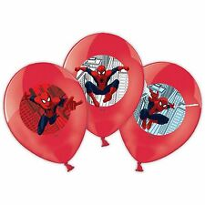 "6Pack Marvel Spiderman 11"" Balloons Superhero Birthday Party Supplies Decoration"