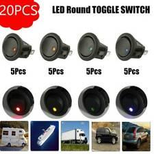 20PCS Mini 12V Car Switch LED Light Boat Round Rocker ON/OFF Toggle  3 Pins AU