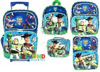 New Disney Toy Story 4 Rolling Backpack Mini Small Backpack Insulated Lunch Bag