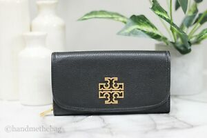 Tory Burch (60414) Britten Duo Envelope Small Leather Continental Wallet Clutch