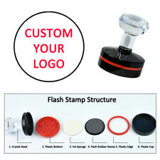 Personalised Custom Self inking Pre inked Address Wedding Business Stamps Round