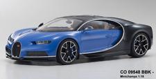 Minichamps co9548bbk - Bugatti - Chiron - qusia azul y negro 1:18