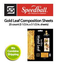 Speedball Mona Lisa Composition Gold Leaf Sheets 25 Sheet Pack 0010204