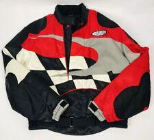 Vintage Kawasaki Ninja Kushitani Hamamatsu Motorcycle Jacket Mens XXL Black Red
