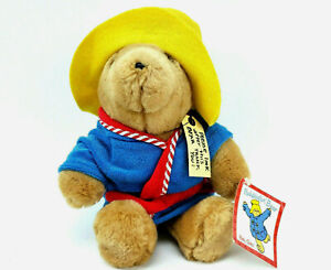 "Paddington Bear Terry Bath Robe Plush Stuffed Toy Sears Vintage 11"""