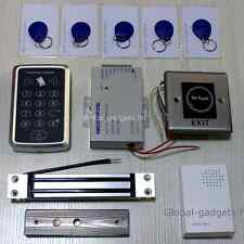 RFID and RDID Securty Door Access Control Kit+Magnetic Lock+Infrared Exit Button