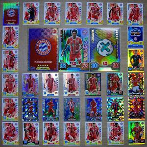 """Match Attax 2017 2018 17 18 Bayern München """"ALLE !"""" Einzelkarten zum aussuchen"""