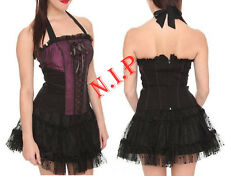 Tripp Lace Up Halter Corset Top Rockabilly Hot Topic Visual Kei Cyber Punk Goth