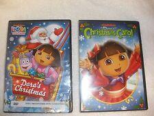 Set of 2 Dora the Explorer: Dora's Christmas Carol Adventure/ DVD Region