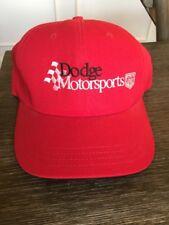 Vintage 90s Dodge Motorsports Red Hat Cap Trucker Adjustable Old Logo USA MADE O