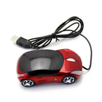Sport Car Shaped Mouse 3 Button Optical Mouse Ergonomic Mice with USB Receiver