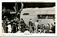"""Vtg Postcard 1943 RPPC American Red Cross Clubmobile """"Fuelling Up!"""""""