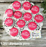 """12 PINK SOFTBALL Pins 1.25""""  PINK BUTTONS / BADGES team party favors  USA New"""
