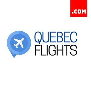 QuebecFlights.com - $1,618 EstiBot Value Domain Name Dynadot COM Premium Domains