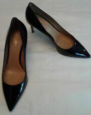 bally womans shoes pump classic elaise black patent 9 M