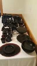 Avon Cape Cod Ruby Dishes Collection