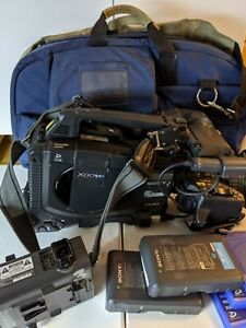 Sony PDW-F335 XDCAM HD 1080p Camera w/Canon Lens Kit -Batteries/Media/Carry Case